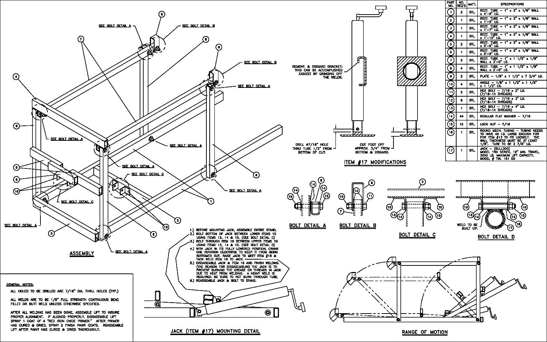 Yamaha Sled Lift Plans